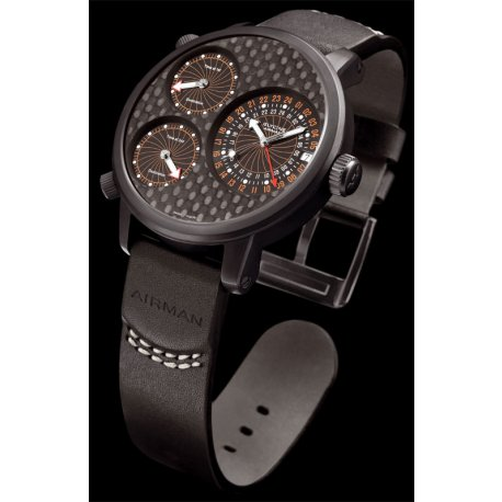 GLYCINE AIRMAN 7 TITANIUM BLACK DLC
